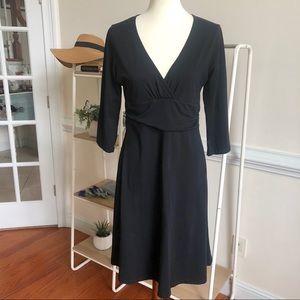 Patagonia black jersey knit dress
